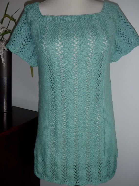 Aqua cotton long lace shirt no. 193