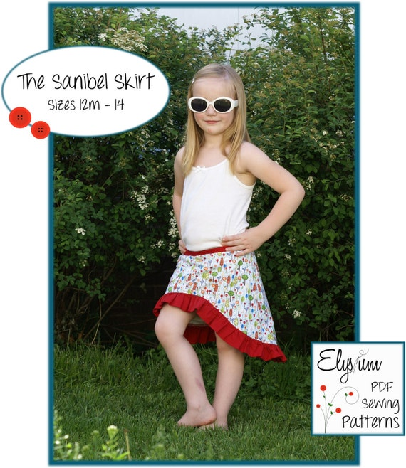 The Sanibel Skirt Pattern with Optional Attached Under-Shorts