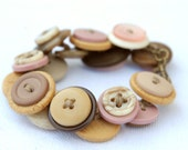 Neapolitan Ice Cream No. 2 Lost and Found Funky Chunky Bling Button Bracelet