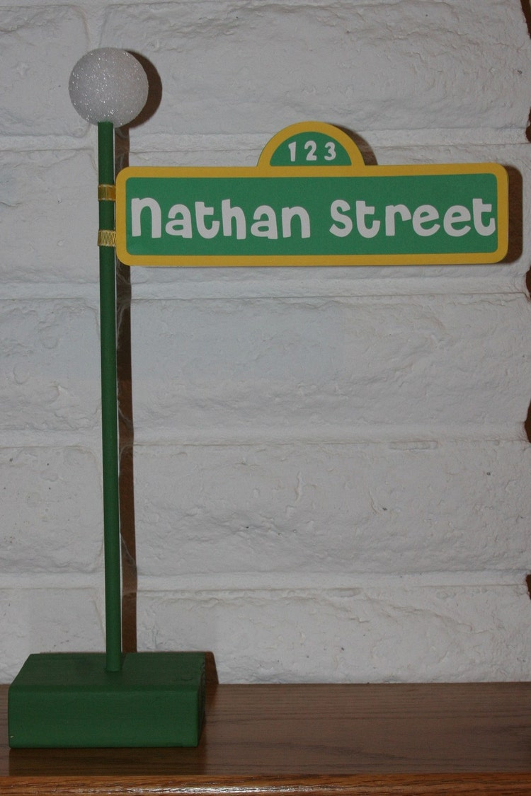 Sesame Street Birthday Party Lampost Sign By Creativequeenbee