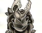 skull and rose (original)