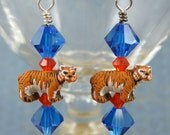 Swarovski Tiger Earrings