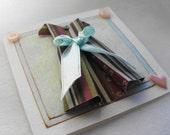 Gift Card  Origami Mini Paper Dress Card