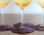 Fest Stay on Coasters in Purple - set of 4 Standard Size