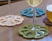 Citrus Slip-on Coasters - set of 4
