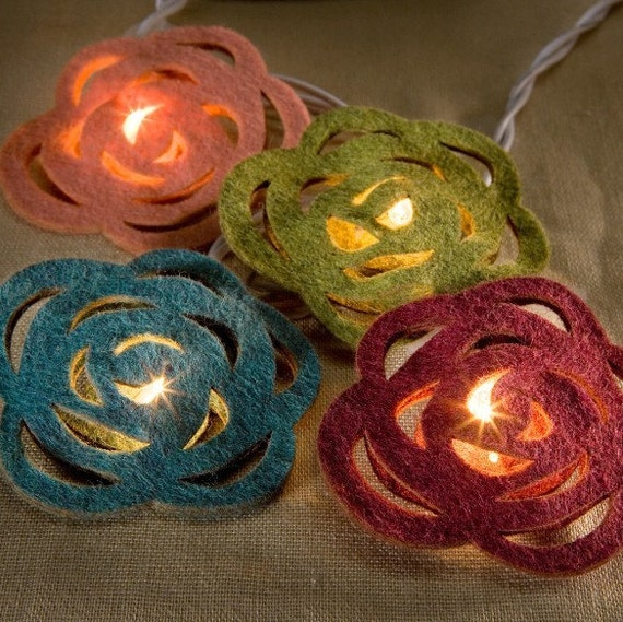 String Lights With Covers : Items similar to Peony String Light Covers on Etsy