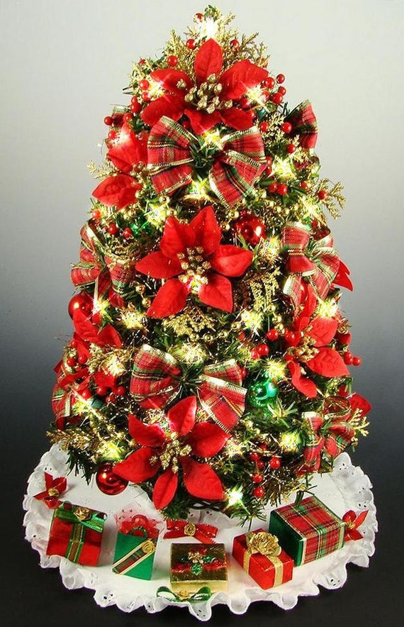 Themed Mini Christmas Trees Mini Tabletop Christmas Tree