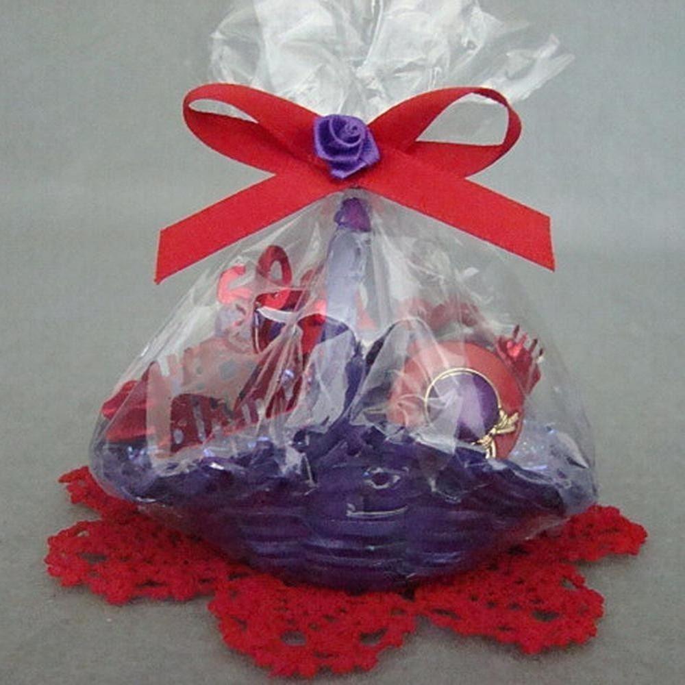 Red Hat Society 50th Birthday Reduation Mini Gift Basket