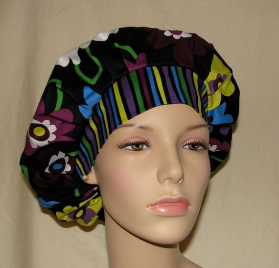 Bouffant Surgical Scrub Hat - Bright Blossom Floral