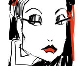 FASHION FACE-fashion illustration print