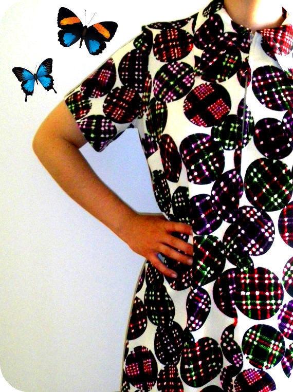 60s GEOMETRIC MOD SHIFT Dress