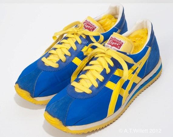 1970 S Vintage Onitsuka Tiger Running Shoes 7 5 Ucla Blue