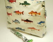 2X Toiletry Bag. Medium. With Gusset - The Angler