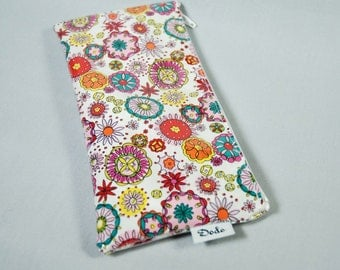 Wallet. Pencil Case. Small Pouch - Flower