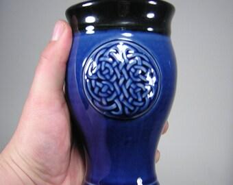 Celtic Pilsner Beer Cup Royal Blue (20 oz) Celebrations, Dinnerware, Kitchen, Home Bar, Renaissance or Celtic Festivals Handcrafted Pottery