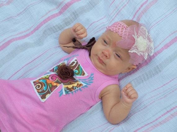Western Baby Dress with Cross