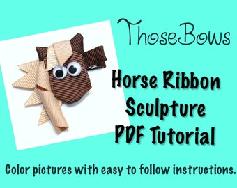 Instant Download Horse Ribbon Sculpture PDF Tutorial