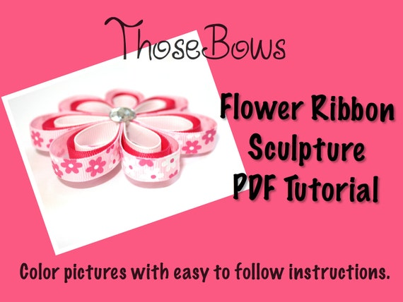how to make flowers out of ribbon for hair bows
