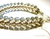 Elegant Grey And Silver Beaded Bracelet