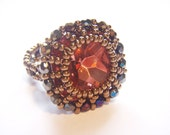 Beaded Vintage Cabochon Ring