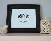 Bike Love - You and me, travelling down life's road together customised print