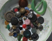 Vintage Bead And Button Assortment Number 9