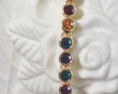 Jewel Tone Vintage 1980's Swarovski Crystal Bracelet