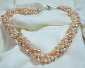 Pink and Natural Freshwater Pearl Necklace