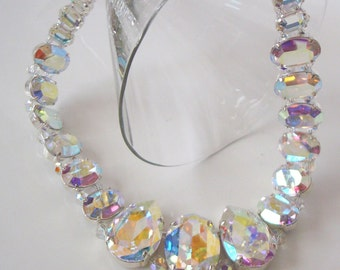Swarovski Crystal AB necklace