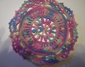 SET OF THREE MULTI COLOR DOILIES
