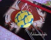 Fabric Covered Bookmarks - Hopping Penguins