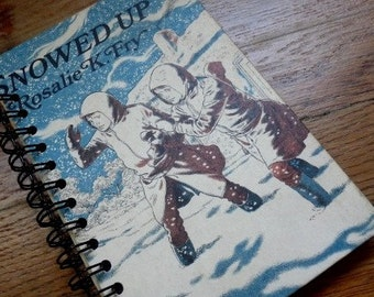 Snowed Up Recycled/Upcycled Book Journal