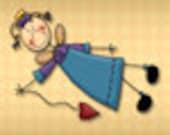 Whimsical Style Etsy Banner Avatar Set - Angel Heart