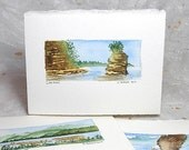 Landscape Watercolor Art Card - Little Sister