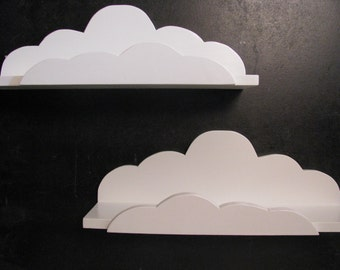 Set of 2 DREAMY CLOUD SHELVES - Children's & Nursery Decor, Kids' Shelves