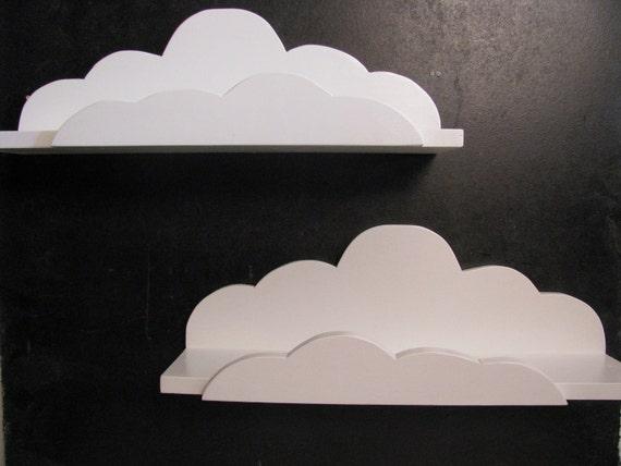 Set of 2 DREAMY CLOUD SHELVES - Children's & Nursery Decor, Kids' Shelves