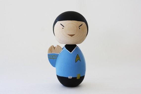 Spock - Vulcan Hand - Custom Painted Lil' Fatty Doll