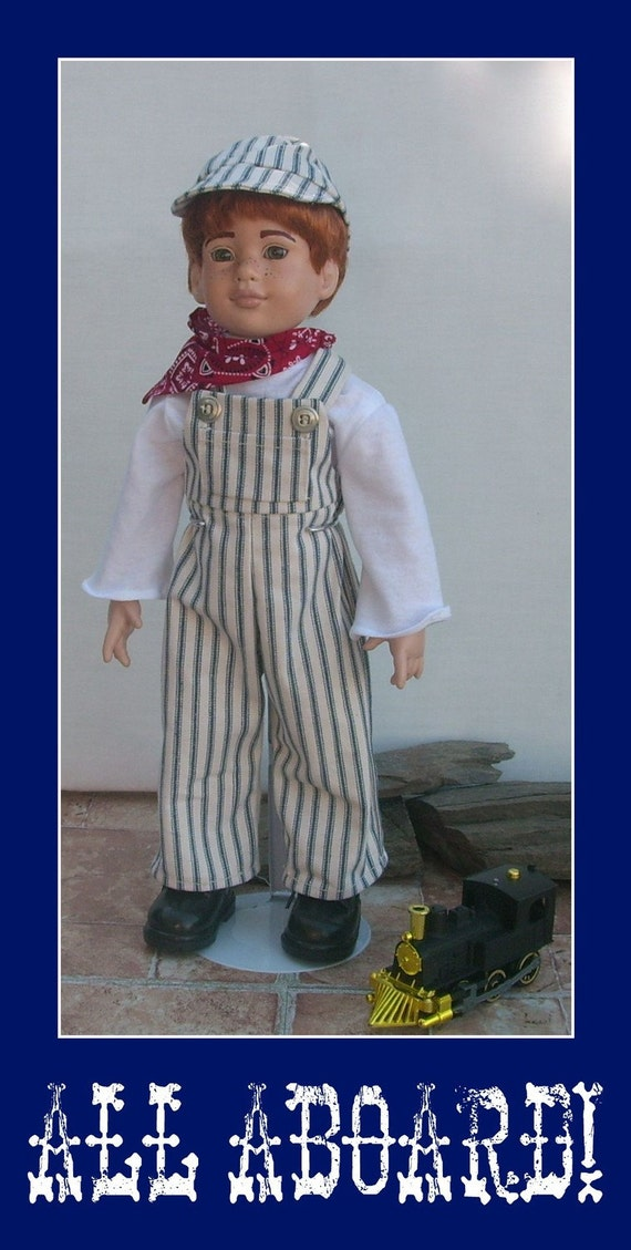 Train Engineer Outfit For 18 Inch Dolls Perfect For Boys