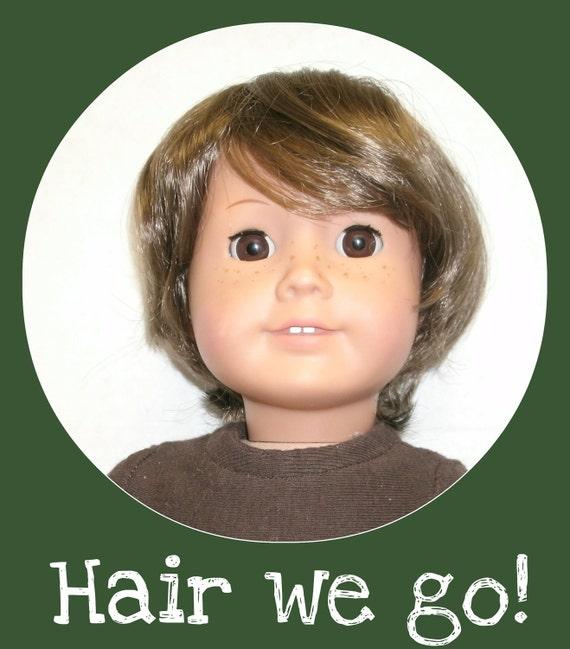 Boy Doll Wig for American Girl 18 Inch Doll