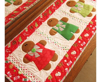 Gingerbread Treats Table Runner Pattern by Cleo and Me