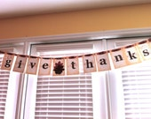 Ready for Immediate Shipping Thanksgiving Banner- Give Thanks