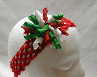 Christmas Korker Bow Hair Clip