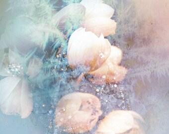 frozen petals - art print, original photos processed in PS