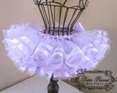ROYAL tutu - Double Satin Ribbon Edge Tutu- (Newborn - 3 months)- Lavender Light Purple - Custom Order - Photography prop - Wedding