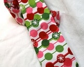 Little Guy Holiday Christmas Necktie- Red Pink Green Candy Dot - (2T-4T) - Boy Toddler- (Ready to Ship)- Photo Prop