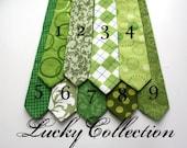 Little Guy Necktie Tie - LUCKY Collection - St Patricks Day - (12 months - 2T) - Baby Boy Toddler - Custom Order - Wedding - Photo Prop