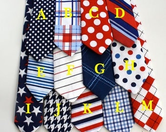 Little and Big Guy Necktie Tie - LIBERTY Collection - (All sizes) - Baby Boy Toddler Adult - Wedding - Photo Prop- 4th of July