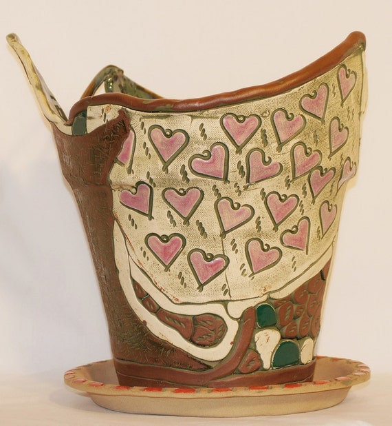 Hearts, Love, and Greenery Planter