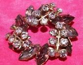 Vintage cluster of crystals brooch