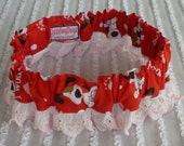I Woof You...Dog Scrunchie Necklace..with embroidered heart trim - X L - TRY ME PRICE